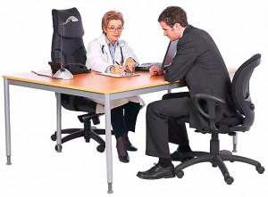 doctor patient meeting
