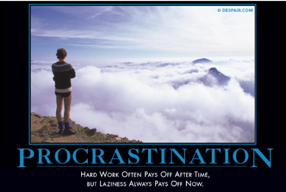 procrastination visual